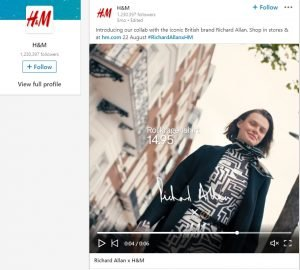 linkedin video ads h&m