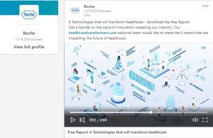 linkedin video ads collection - roche