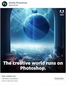 facebook ad examples - adobe photoshop