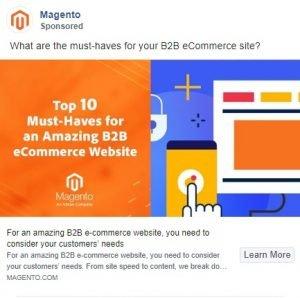 facebook ad examples - magento