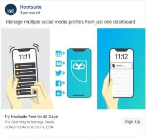 facebook ad examples - hootsuite