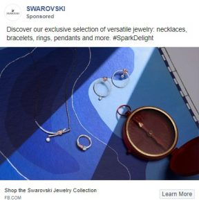 facebook ad examples - swarovski