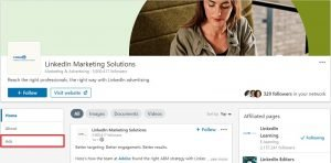 free marketing tools for small businesses - linkedin ads tab