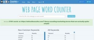 webpage word counter - free marketing tools for small businesses