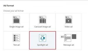 ad formats linkedin