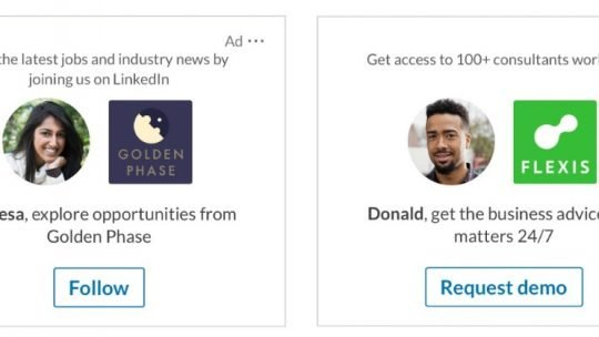 linkedin dynamic ads examples