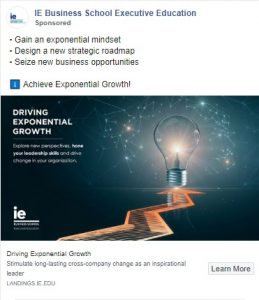 facebook ad examples - ie business school