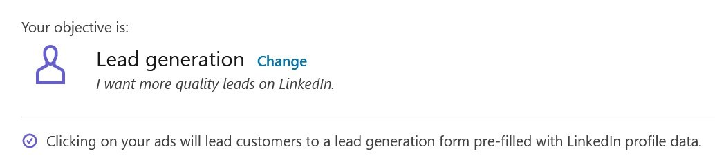linkedin campaign objectives - lead generation