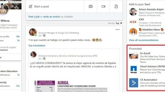 linkedin text ads examples