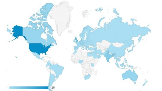 google analytics metrics - location data