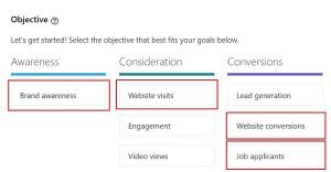 spotlight ads - linkedin objectives