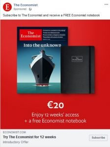 the economist facebook ad examples