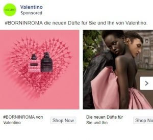 facebook clothing ads examples - valentino