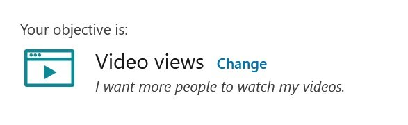 linkedin campaign objectives - video views