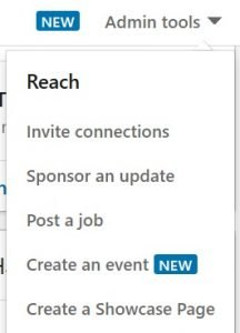 create a showcase page linkedin