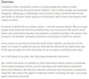 create a linkedin company page - facebook