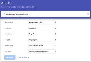 google alerts - brand reputation management