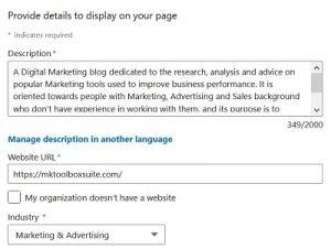 create a linkedin company page - overview