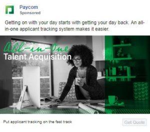 saas facebook ads