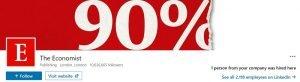 linkedin banner examples - the economist
