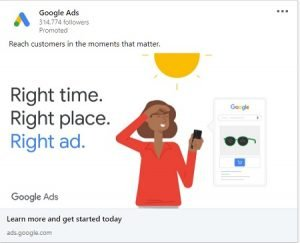 call to action linkedin ad copy google