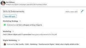 skills and endorsements linkedin