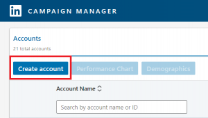 campaign manager linkedin ad account