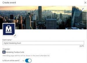 promote linkedin live events