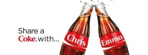 customer experience examples - coca cola share a coke