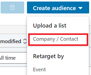 linkedin matched audiences - contact targeting