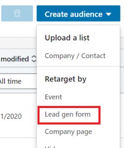 lead gen form