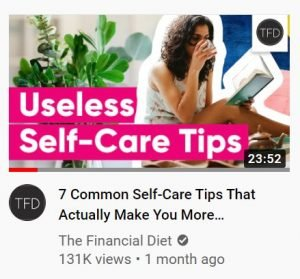 youtube thumbnail examples - the financial diet