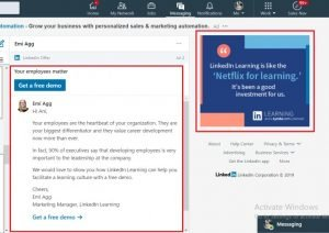 message ad - linkedin inmail - sponsored inmail