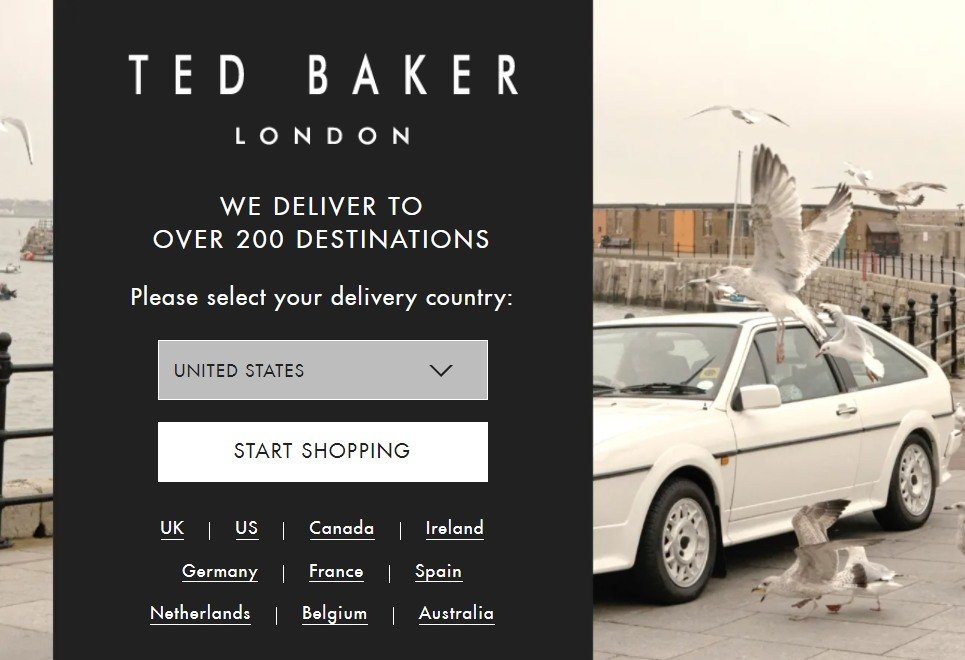 pop up examples - ted baker