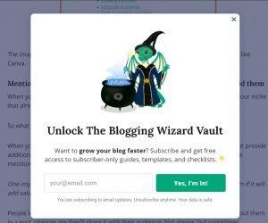 pop up examples - blogging wizard