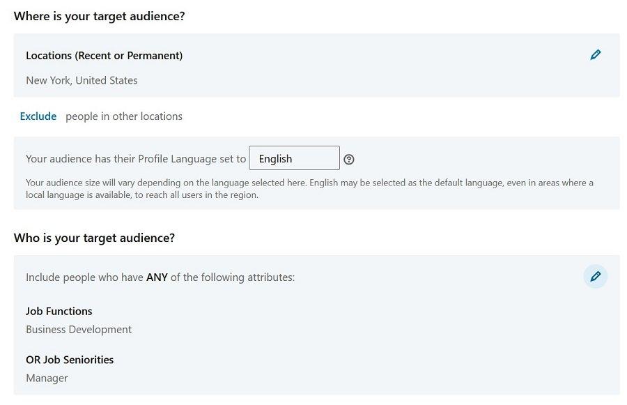 linkedin target audience