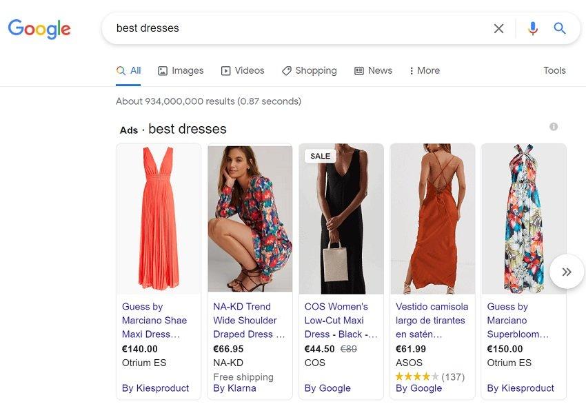 google ads benefits - shopping ads